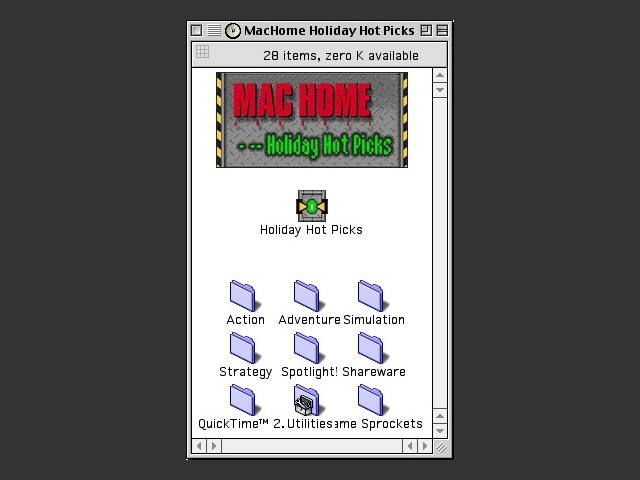 MacHome Holiday Hot Picks CD (1997)