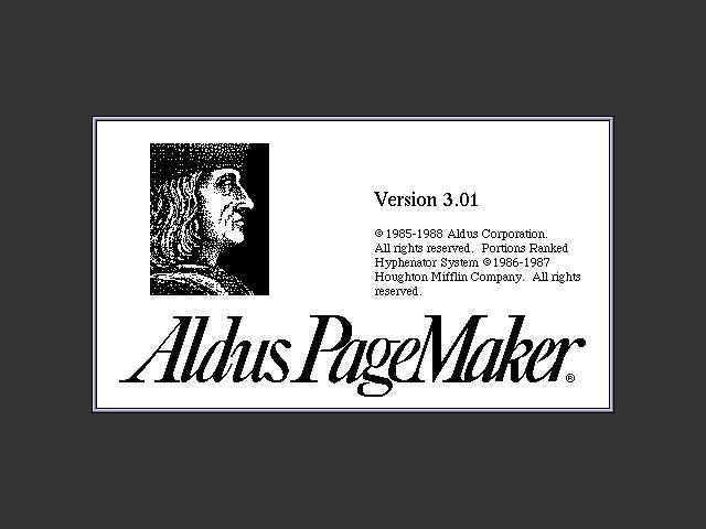 Aldus PageMaker 3.x (1988)