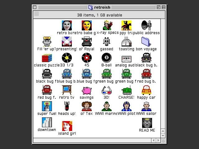 retroish icons