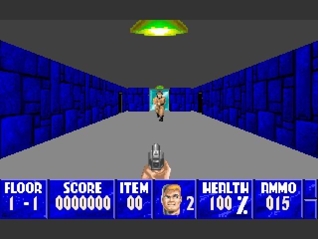 Wolfenstein 3D with Wolfenzoom Active
