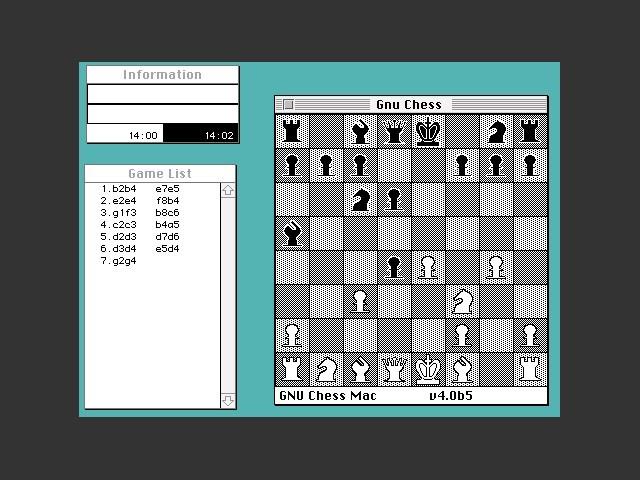 GNU Chess Mac gameplay