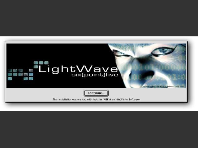 LightWave 3D 6.5 installer splash