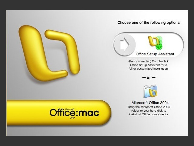 Office:mac 2004