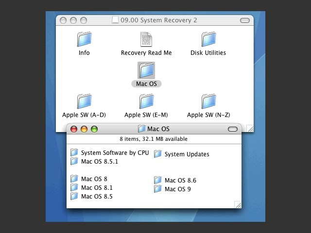 System Software Recovery CD 2 - MacOS