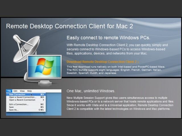 Remote Desktop Connection Client 2.0 (2009)