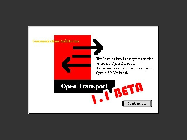 Open Transport 1.1 Beta (1995)