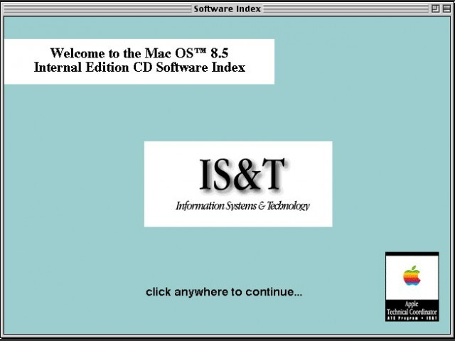 Software index app found on the CD root