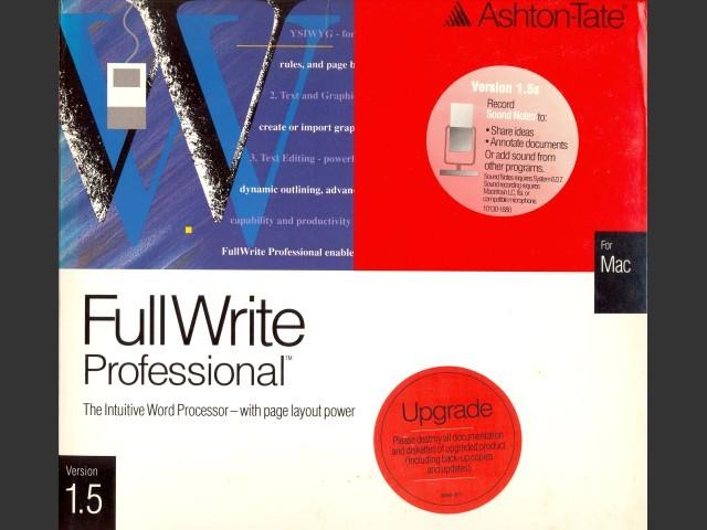 FullWrite 1.5 (1990)