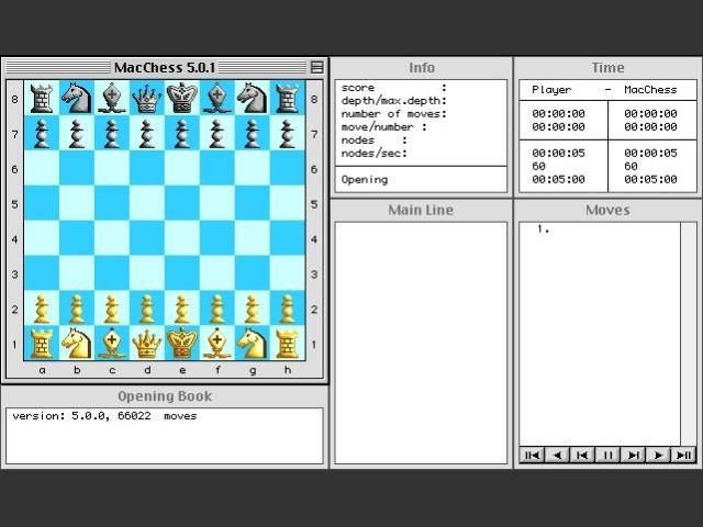 MacChess 5 (PPC) + 2.5 (68K) (1996)