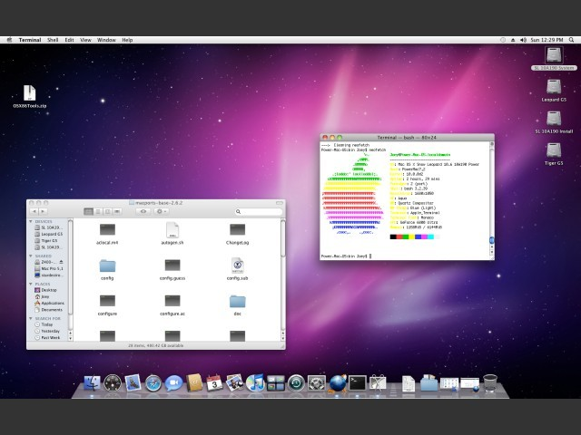 Example of Build 10A190 on a PowerMac7,2