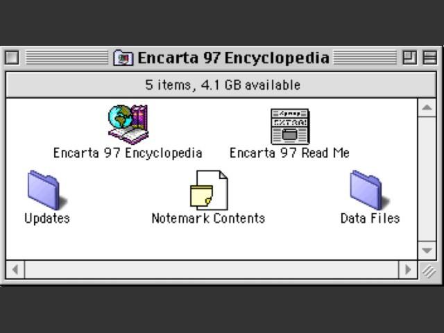 Microsoft Encarta 97 Deluxe - Macintosh Repository