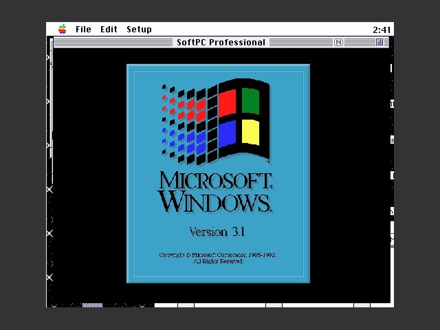 SoftPC 3.1 with Windows (1993)