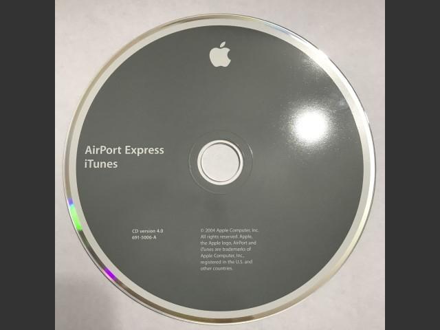691-5006-A,,AirPort Express + iTunes. Disc v4.0 (CD) (2004)