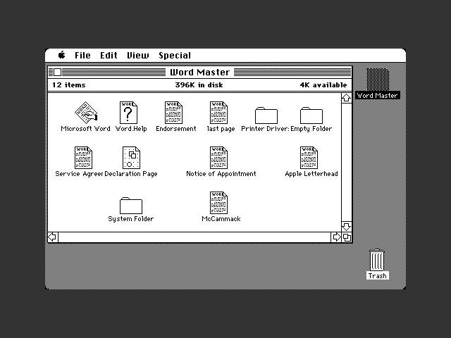 Microsoft Word 1.0 (1985)