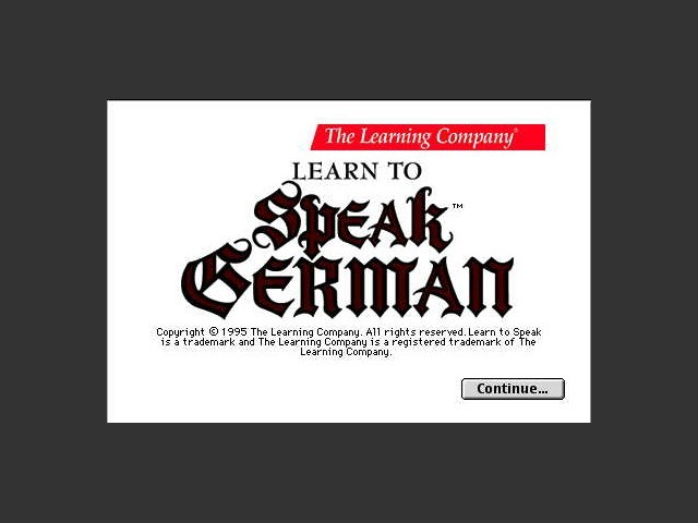 Learn To Speak German (1995)