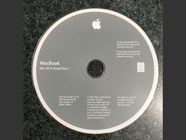 MacBook. Mac OS X Install / Mac OS v10.4.6 / AHT v3A104 / 2006 (DVD DL) (2005)