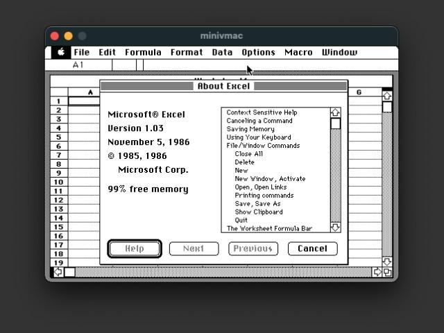 Microsoft Excel 1.03 - 4.0 DiskCopy (1987)
