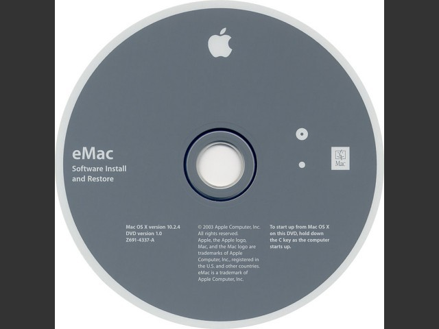 Mac OS X 10.2.4 | eMac ATI, 2003 (2003)