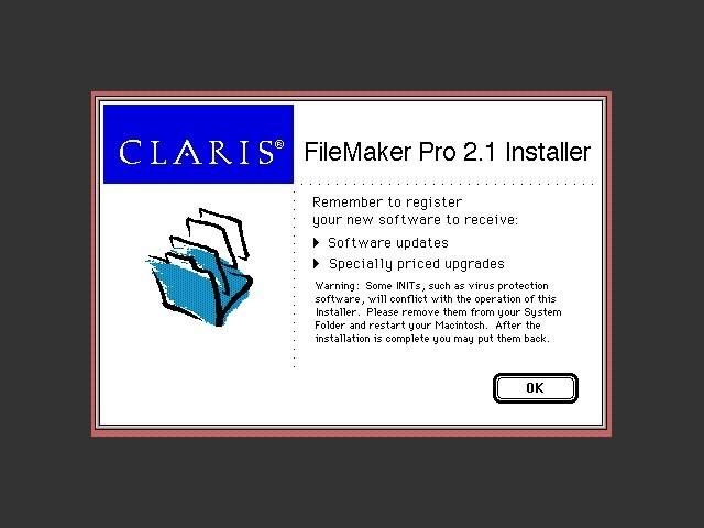 Claris FileMaker Pro 2.x (1992)