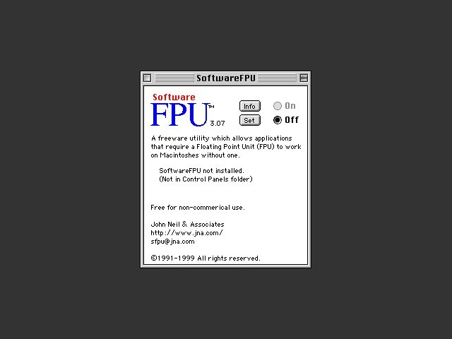 SoftwareFPU 3.0 (1995)