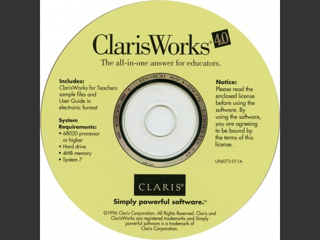 ClarisWorks 4 for Teachers (1996)