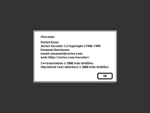 ZVocoder (2000)