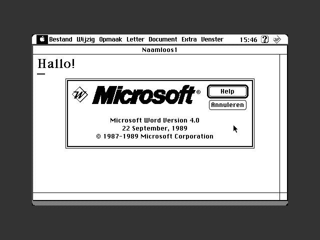 Microsoft Word 4.0 Dutch (NL) (1989)