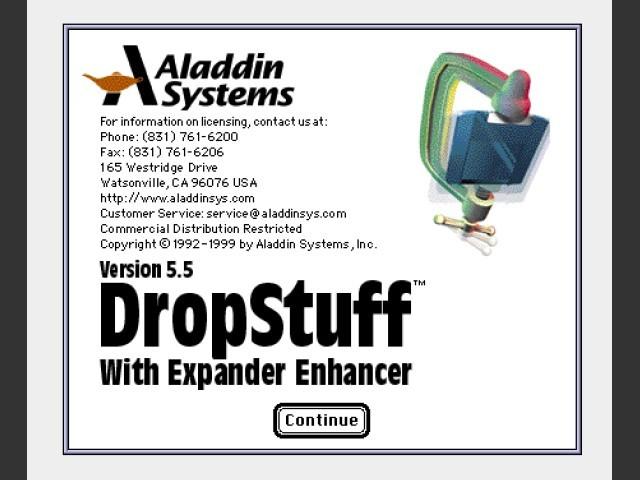 DropStuff 5.5 splash screen