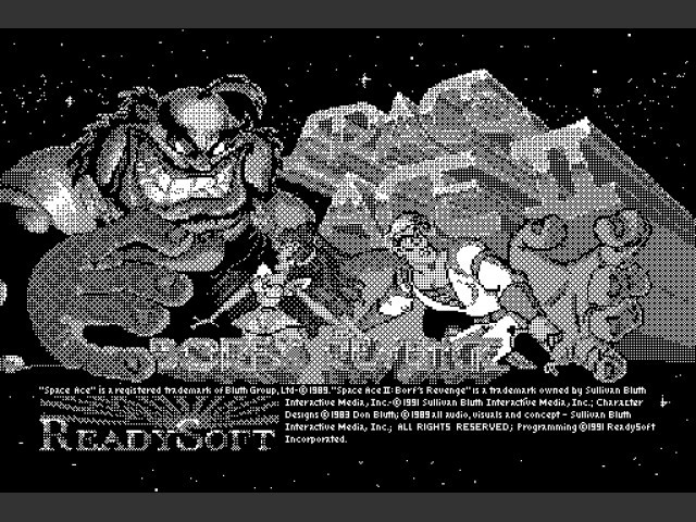 Space Ace II: Borf's Revenge (monochrome version) (1991)