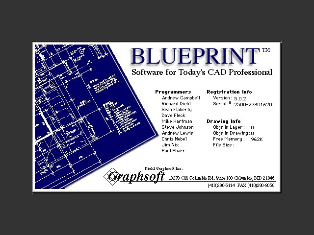 Graphsoft blueprint 502 macintosh repository what is graphsoft blueprint 502 malvernweather Images