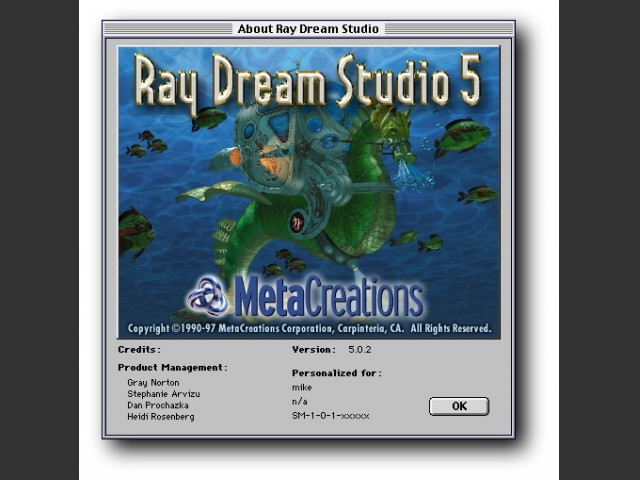 Ray Dream Studio 5.0.2 (1997)